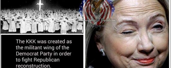 All the founding members of the Ku Klux Klan (KKK) were members of the Democratic Party.