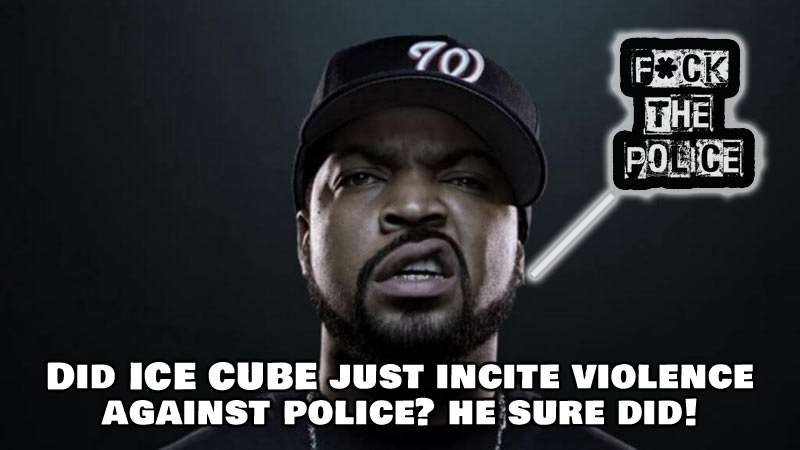 Did rapper Ice Cube just make a tweet that incites violence against the police? Sure sounded like it!