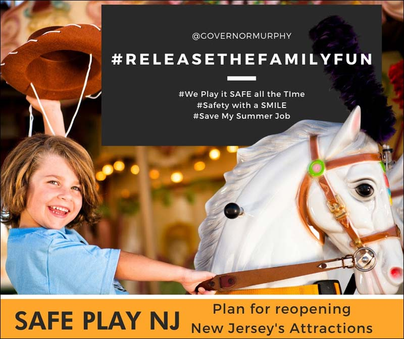 NJAA - Safe Play NJ - Plan For ReOpening New Jersey's Attractions #ReleaseTheFamilyFun