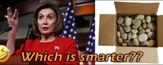 Which is smarter? Nancy Pelosi or a Box of Rocks?? ... Don't answer that, we already know the answer.