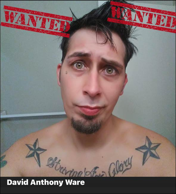 Suspect - David Ware ***ARMED AND DANGEROUS*** - Wanted in Tulsa, Oklahoma