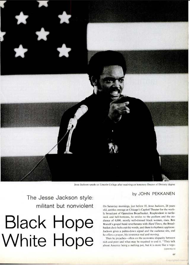 Page 1 of the 1969 November Life Magazine article about Jesse Jackson