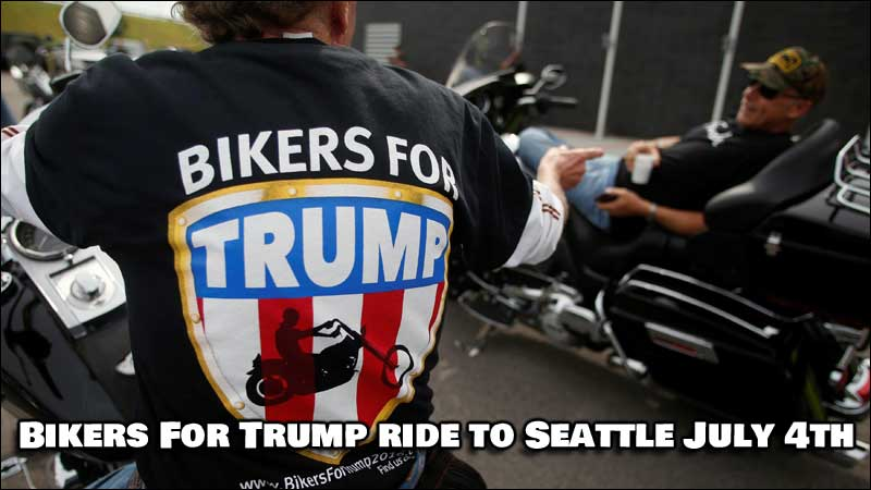 Bikers For Trump, along with several other groups, are on their way to remove Antifa from Seattle streets.