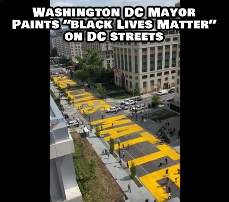 """The mayor of the District of Columbia, Muriel Bowser, had """"Black Lives Matter"""" painted on the street leading directly up to the White House. Watch the video below."""