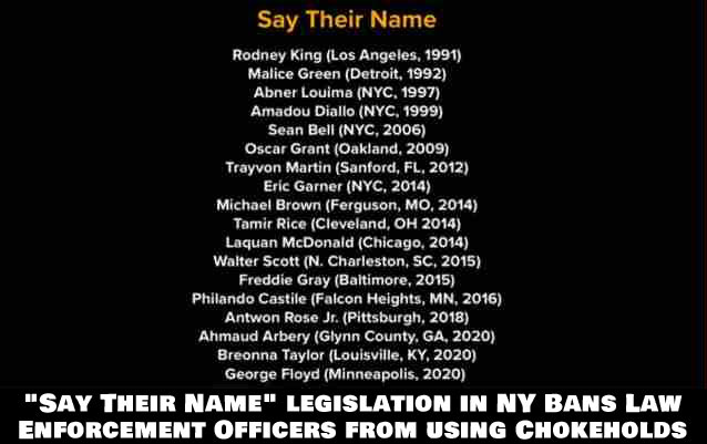 """""""Say Their Name"""" is credited to the victims of police-related incidents, including those names shown in the photo above."""