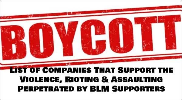 Below you'll find a list of over 275 businesses that support Black Lives Matter. Let's Boycott them all!