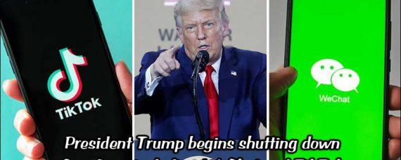 President Trump shuts down spy app WeChat and TikTok is Next.