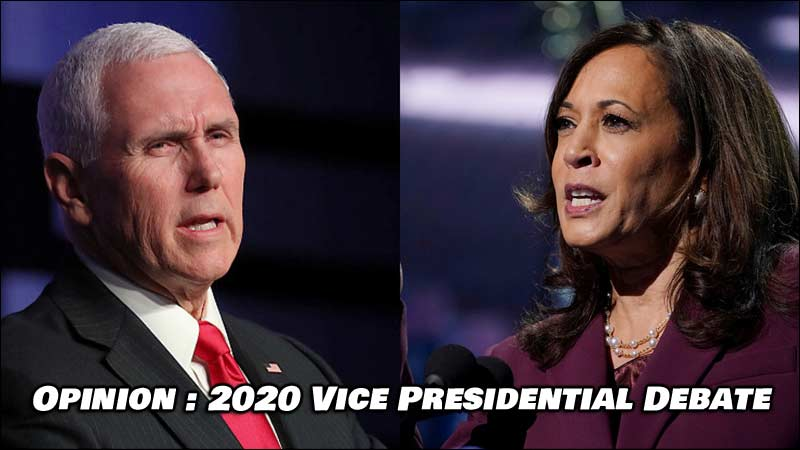 Opinion: Vice Presidential Debate of 2020 by Marge Holdorf AKA Mary Russel, author