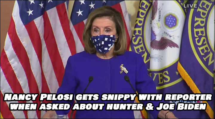 House Speaker Nancy Pelosi Gets Snippy with Reporter over Joe Biden Question