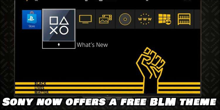 Sony's PlayStation 4 (PS4) Now Offers a Free BLM Theme