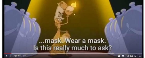 Opinion on the 'Wear A Mask' Music Video Disney Parody