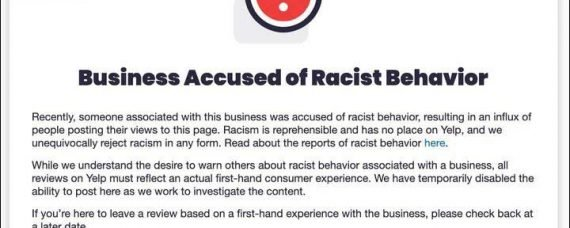 YELP decides to Get Woke. Will Begin To Label Businesses As Racist.