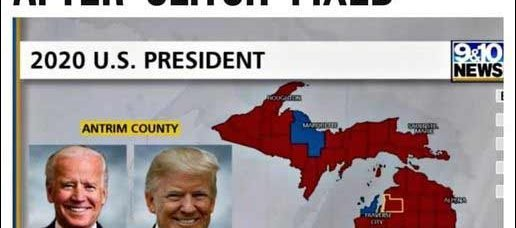 Computer Glitch Caught! Antrim County Michigan Flips To Trump. More counties & states to follow.