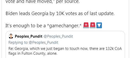Peoples_Pundit first broke the Georgia story on their Twitter Feed