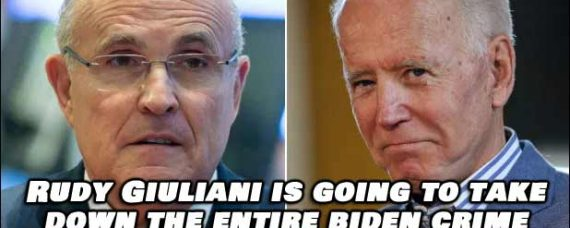 Rudy Giuliani is going to take down the entire Biden Crime Family syndicate and it's going to happen real soon.