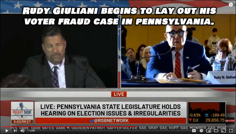 Rudy Giuliani begins to lay out his voter fraud case in Pennsylvania. This video should STUN everyone.