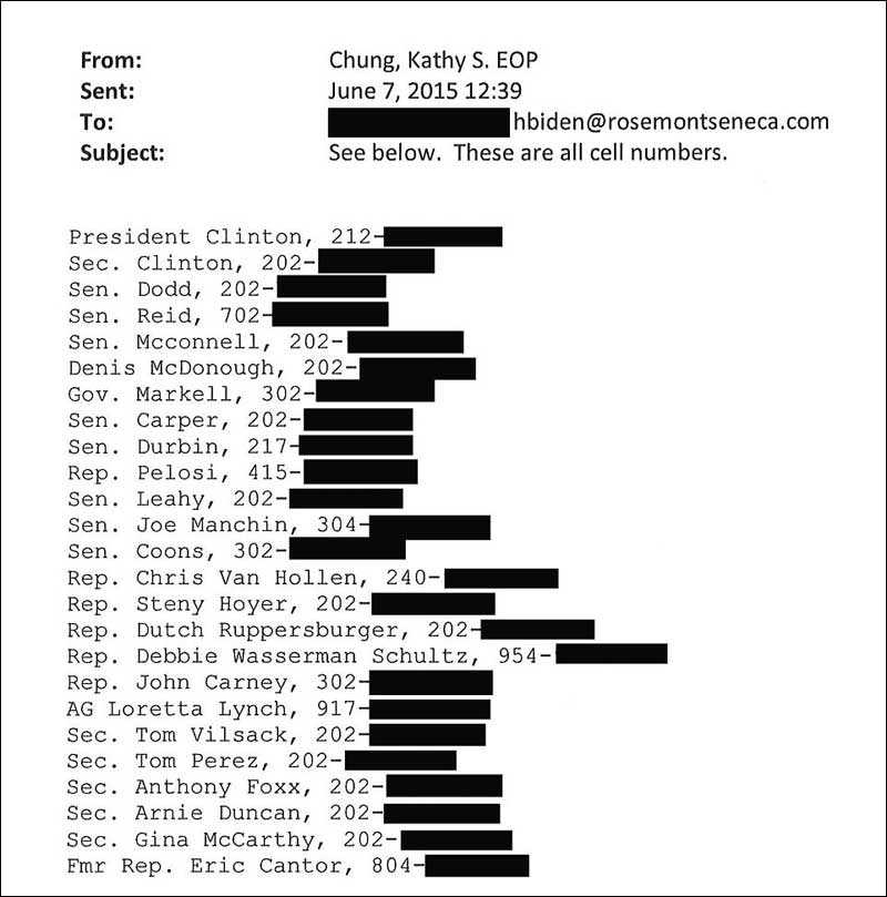 Email Shows Hunter Biden Sold Personal Info on US Officials to the CCP. (Click for full size)