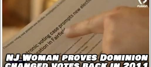 NJ Woman Proves Dominion was Changing Votes back in 2011