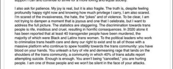 Ellen Page (Juno) Comes Out Transgender, Now Elliot Page (Click for Full Size)