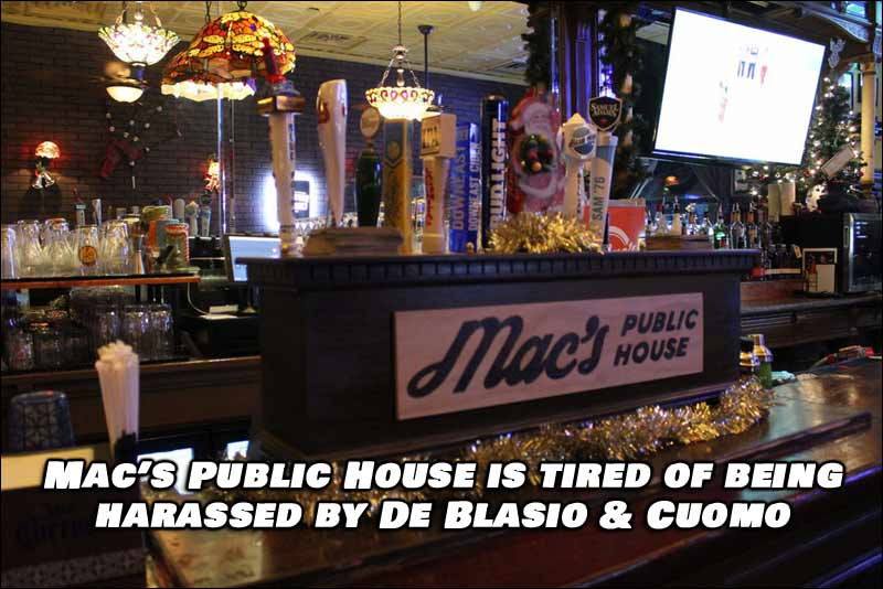 Bar Owners of Mac's Public House Stand Up To De Blasio and Cuomo