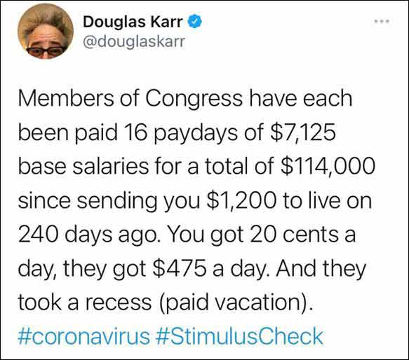 Tweet about Congress and Stimulus .. It's True!! (Click for full size)