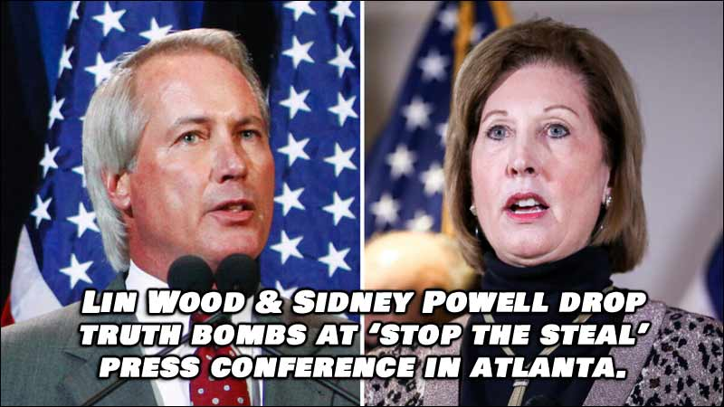 Sidney Powell and Lin Wood Drop Truth Bombs at Atlanta Press Conference, Watch Video Below.