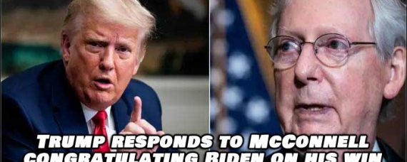 Trump Responds To Mitch McConnell Congratulating Biden Winning Election
