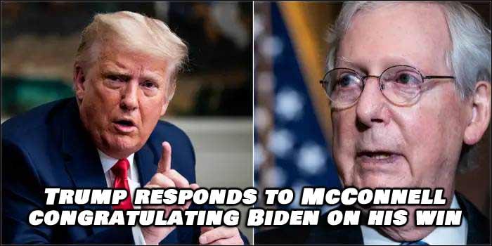 Trump Responds To Mitch McConnell Congratulating Biden Winning Election