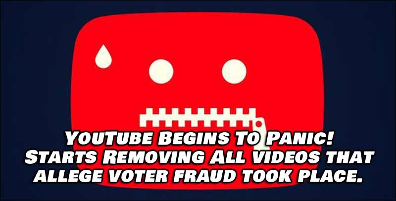 YouTube Panics, Begins To Remove 'Misleading' Videos About Voter Fraud Affecting Election Results