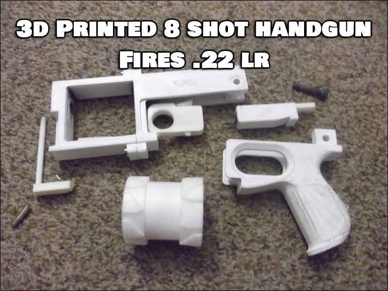 3D Printed Handgun Disassembled