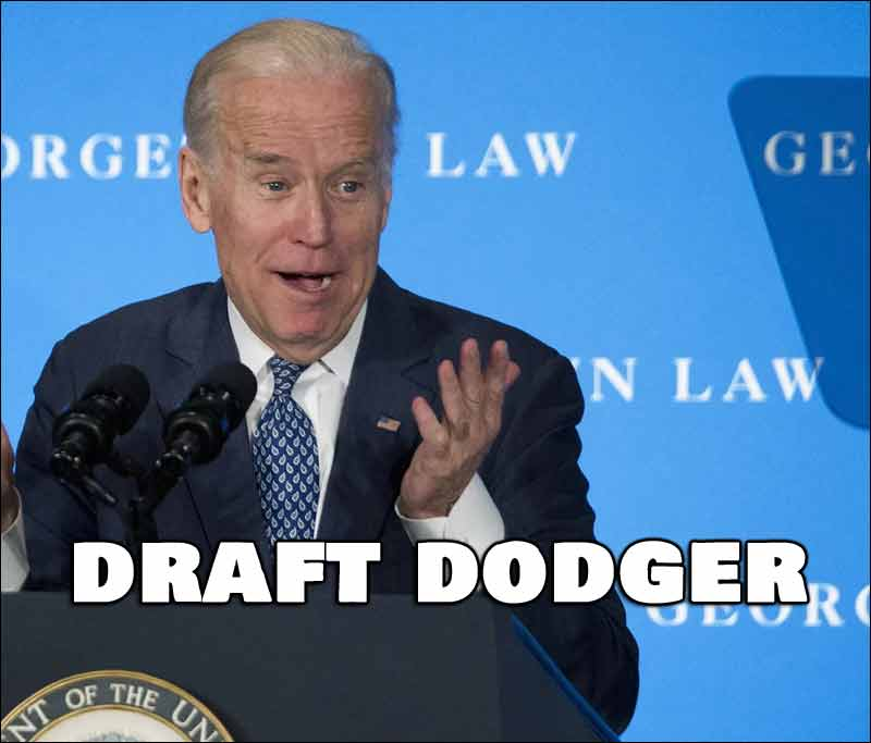 Little Known Fact, Joe Biden Dodged The Vietnam Draft 6 Times