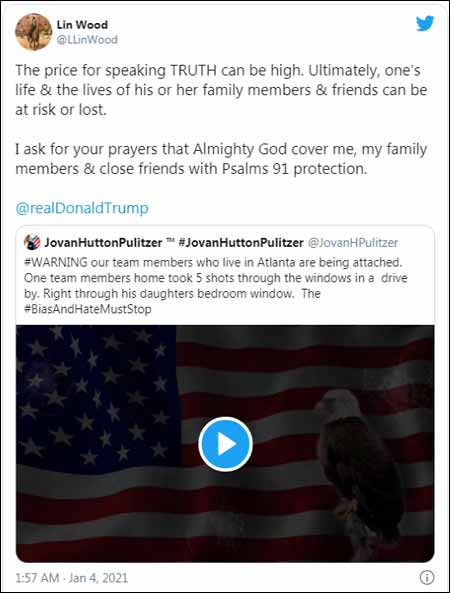 Lin Wood Tweet - pray For his Family