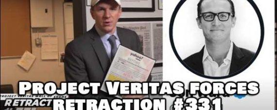 James O'Keefe Project Veritas Release Retracto 331 about Yahoo's Jon Ward (Video Below)
