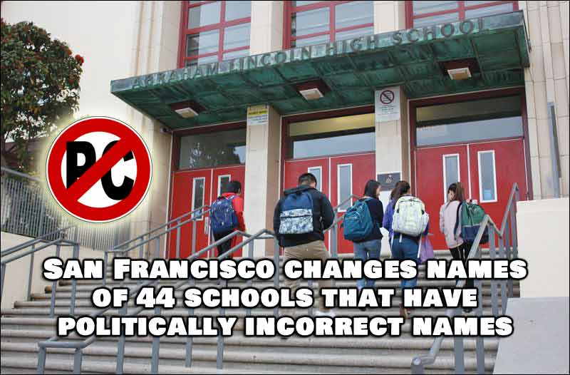Almost 50 Schools in California Change Their Offensive Names