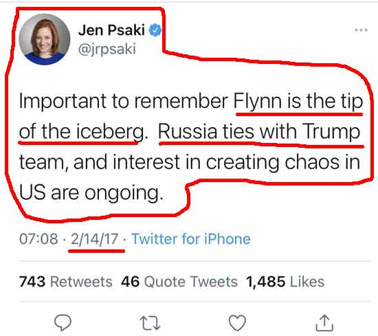 Jen Psaki attacked General Michael Flynn (Click for full size)
