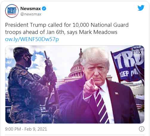 President Trump ordered 10,000 Troops to DC before Jan 6th, DoD REFUSED