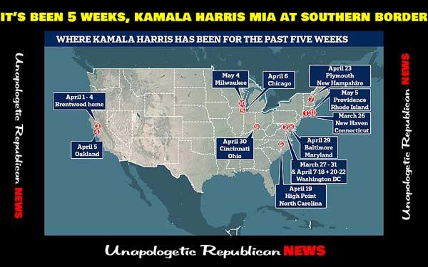 Border Czar Kamala Harris MIA for 5 Weeks and Counting