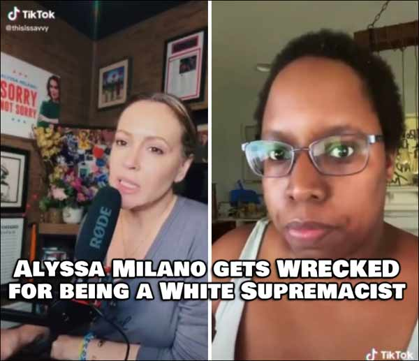 Alyssa Milano gets WRECKED for being a White Supremacist