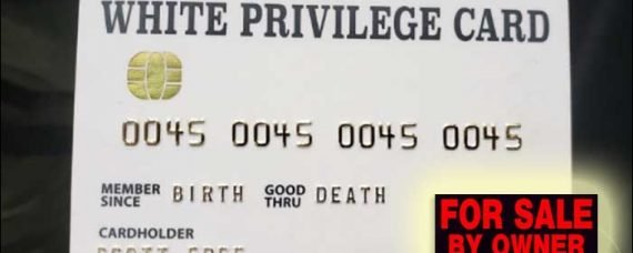 I'm selling my White Privilege Card, Anyone Interested?